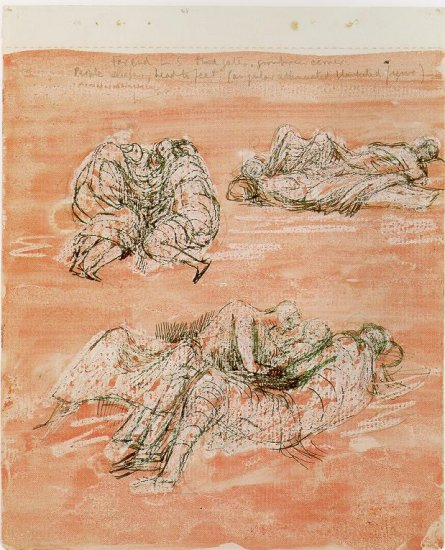 Three Groups of Sleeping Figures